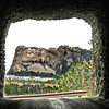 Going through a tunnel, the majestic sights of Mount Rushmore come into view.