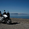 The beauty of Yellowstone Lake as enjoyed by our trusty steed.