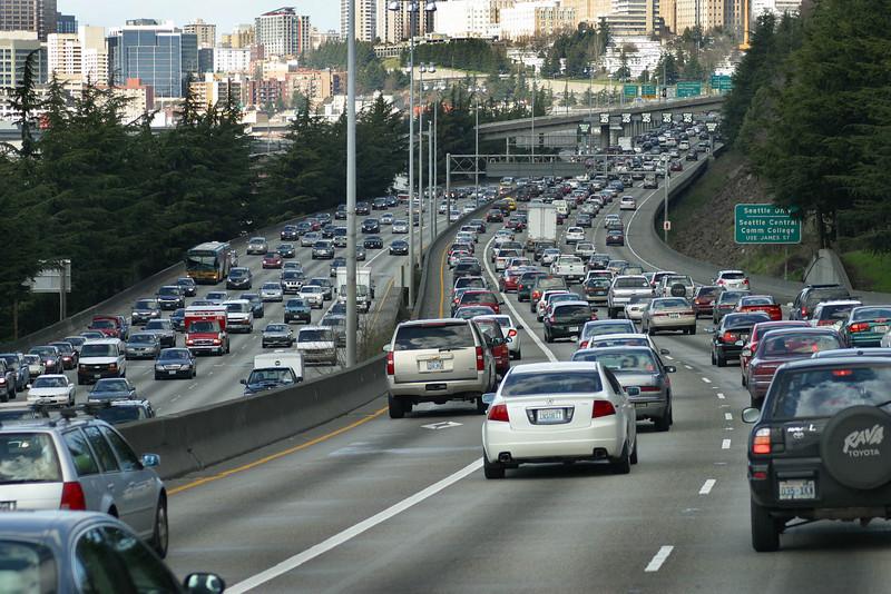 Interstate 5 , Seattle, March 19, 2011