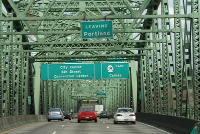 Crossing Columbia River, entering Washington. March 19, 2011