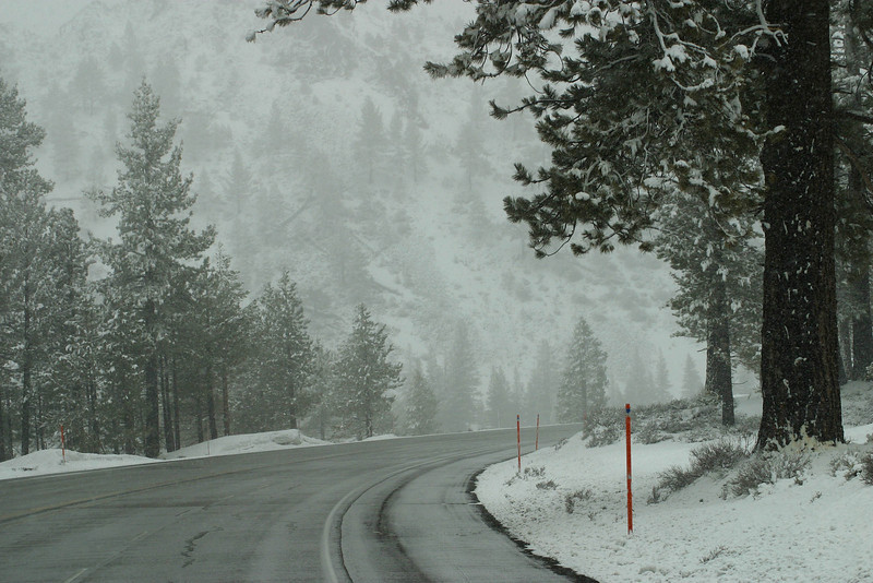 California Hwy 395 past Mammoth Lakes. March 16, 2011