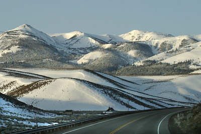 California Hwy 395 . Downhill from Devils Gate.  March 17, 2011