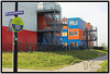 The shipping containers that Marieke was calling home when I visited.