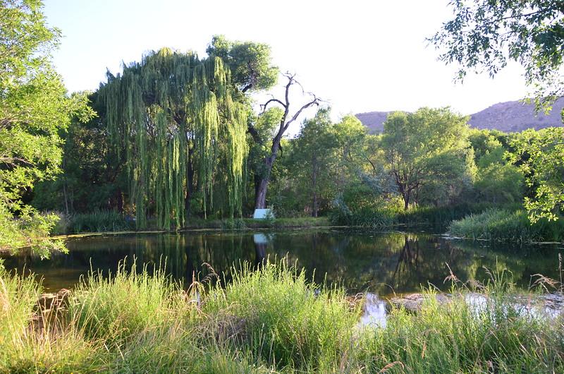 A pond-side campsite at Lolomai Springs, Sedona, AZ.