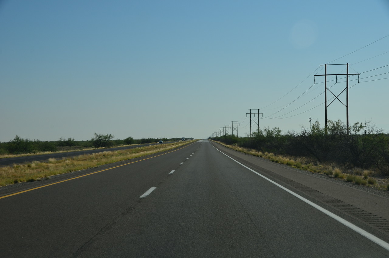 On the road to Las Cruces, NM. We had a lot of hours like this.