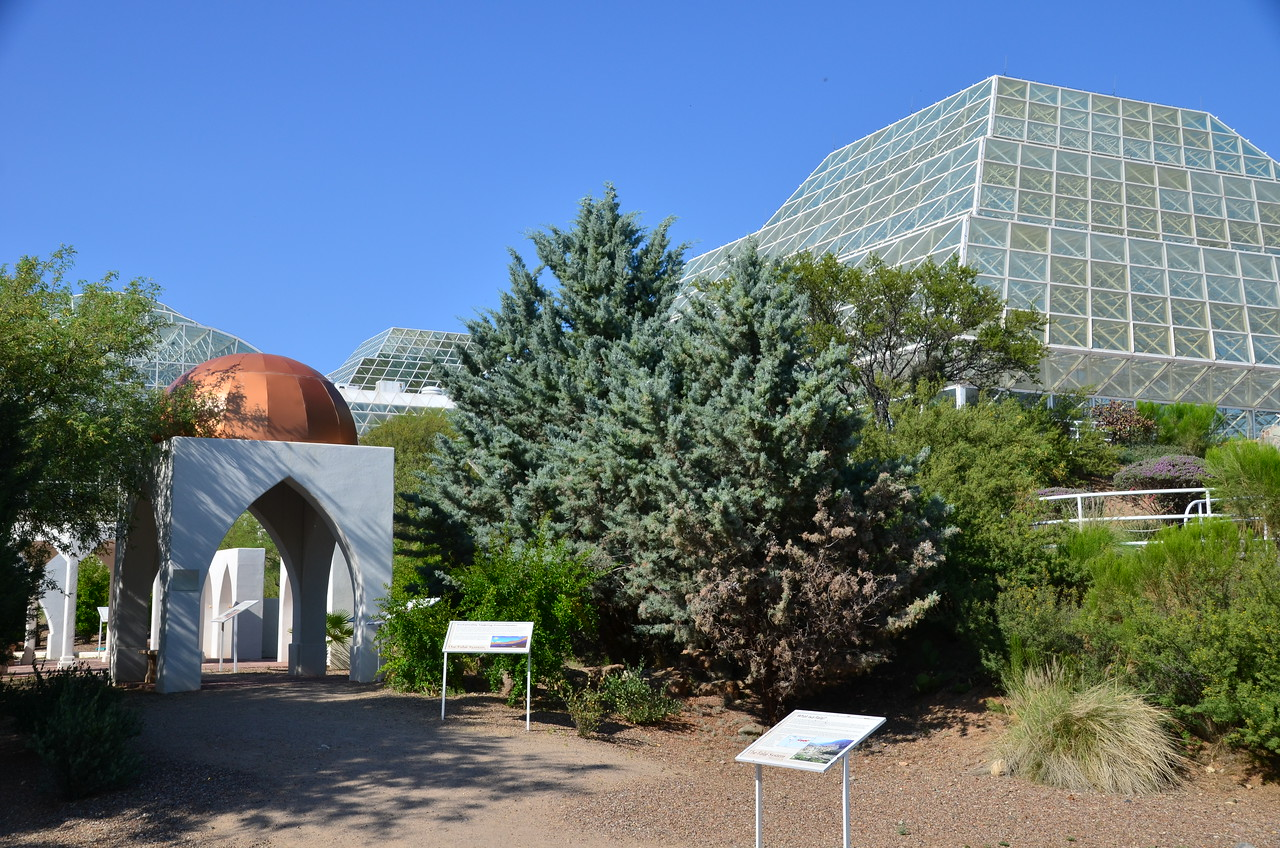 "At Biosphere II, a ""research facility"" operated by the University of Arizona and one of the largest enclosed greenhouses / enclosed ecosystems in the world."
