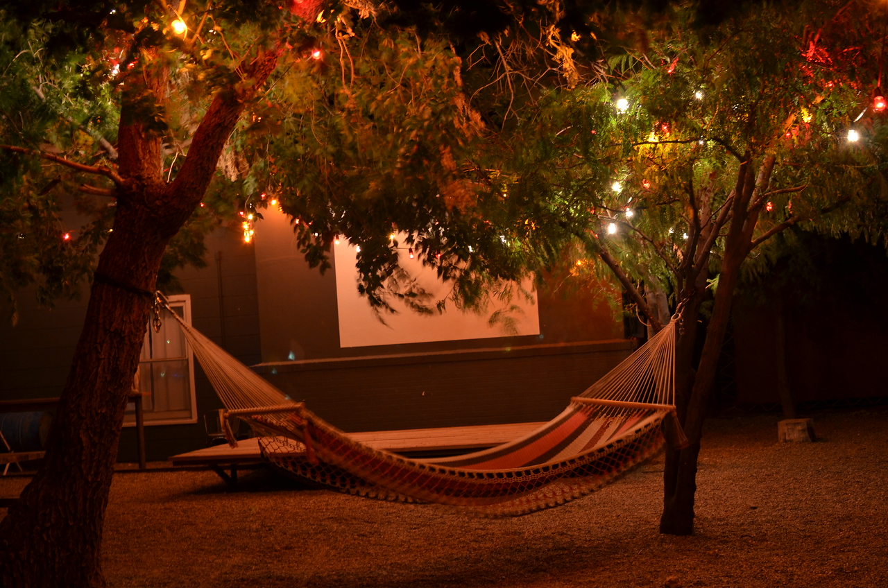 """Our home for a night at El Cosmico, in the little arts community of Marfa, TX. We stayed in """"Little Pinky""""."""