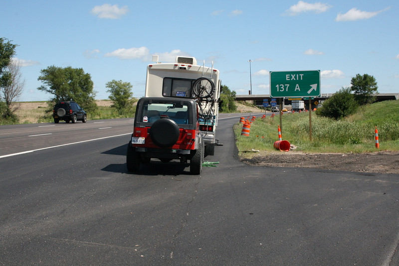 Blowout on I-80 - Des Moines, Iowa - Slices In Time