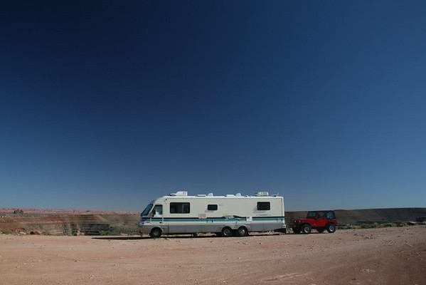 Overnight dry camp at The Goosenecks in southern Utah The Goosenecks State Park, Utah