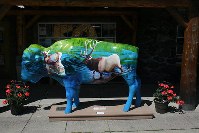 Buffalo sculpture - West Yellowstone