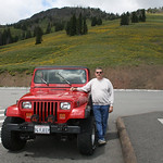 Jeep and Gary at Dunraven Pass