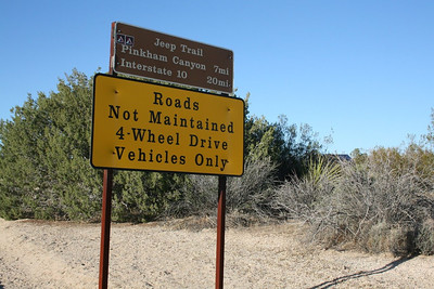 4-wheeling at Pinkham Canyon near Palm Springs, California