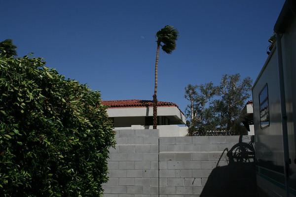 High winds at Palm Springs, Callifornia
