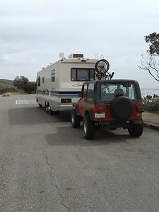 Jeep in tow - Gaviota, CA
