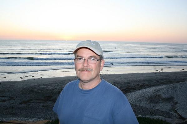 Gary - sunset at Moonlight Beach