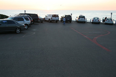 Moonlight Beach upper parking lot