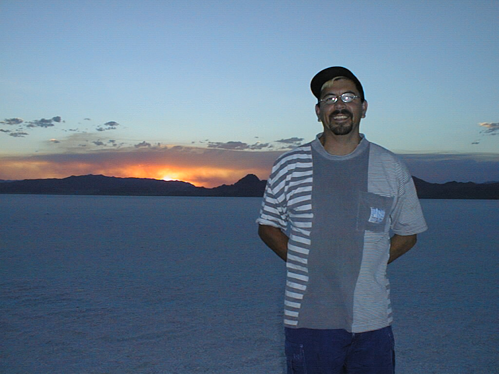 Northwest Tour 2000 - July-August, 2000 - Bonneville Salt Flat, Utah