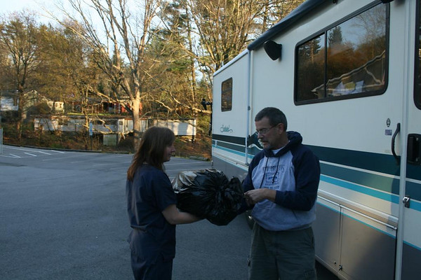 Gary delivers Beavis to Reach Hospital staff in Asheville, North Carolina