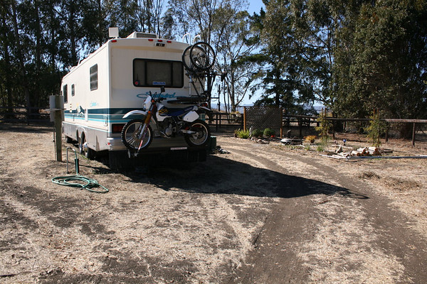 Minutes before leaving the ranch in San Luis Obispo