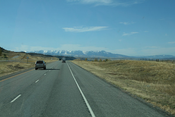 On the road through Montana