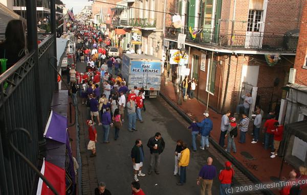 Bourbon Street - French Quarter - New Orleans - January 5, 2008