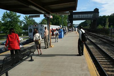 MTA Platform - Beacon Station across the Hudson River from Newburgh, New York
