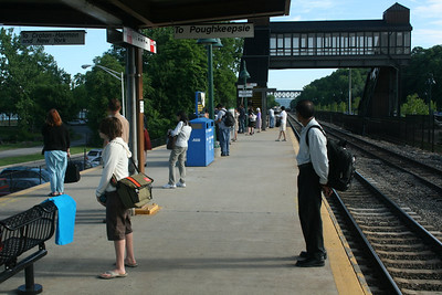 MTA Platform - Beacon Station across the Hudson River from Newburgh, New York
