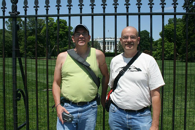 A day in Washington, DC - Joe and Gary in front of the White House - May 17, 2008