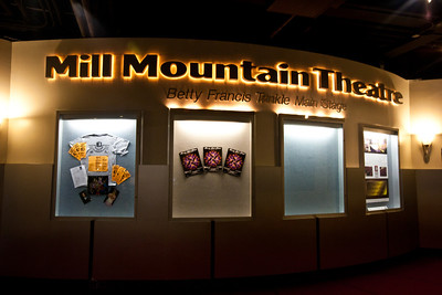"The Mill Mountain Theater provied much entertatinment from its location at the market's ""Center in the Square""."