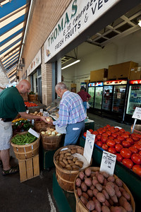 Fresh fruit and vegetables abound at the City Market.