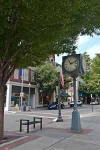 Street clock at the City Market in Roanoke.