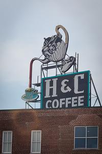 Landmark H&C sign in Roanoke, VA, erected in 1948.