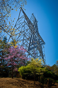 Roanoke, VA is known as the Star City of the South, and here is their star - at 100 feet tall, it is the largest man made star in the world.  It was erected in 1949 and sits a bit over 1000 feet above the city, on Mill Mountain.