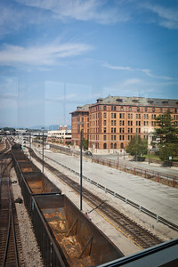 A view of the old Norfolk & Western Offices and rail yard in Roanoke, VA
