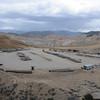 A small service/supply yard near the main mining area.