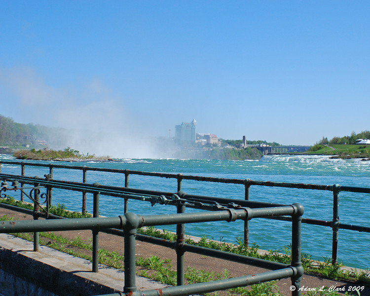 Above the Horseshoe Falls from the Canada Niagara Power building