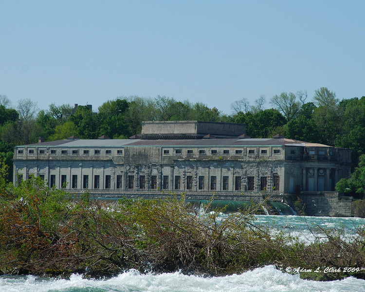 Canada Niagara Power building from the US