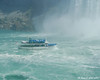 A Maid of the Mist boat from the US side getting a closer view of the Horseshoe Falls