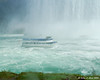 A Maid of the Mist boat from the Canada side getting a closer view of the Horseshoe Falls
