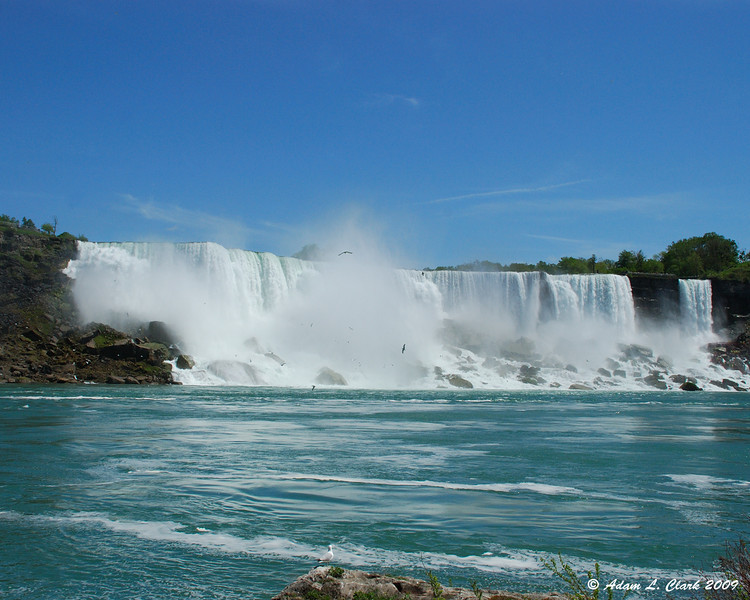 American Falls from the dock area