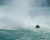 Maid of the Mist boat getting close to the Horseshoe Falls