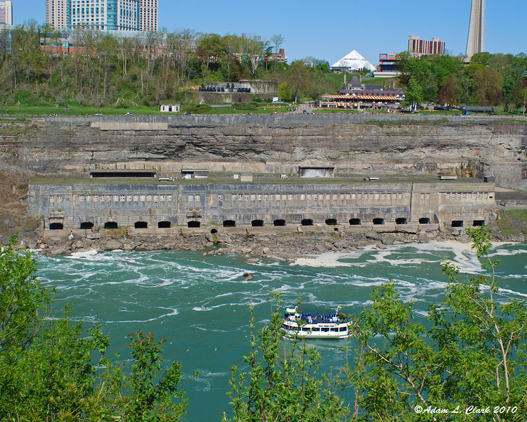 The old power facility just below the Horseshoe Falls