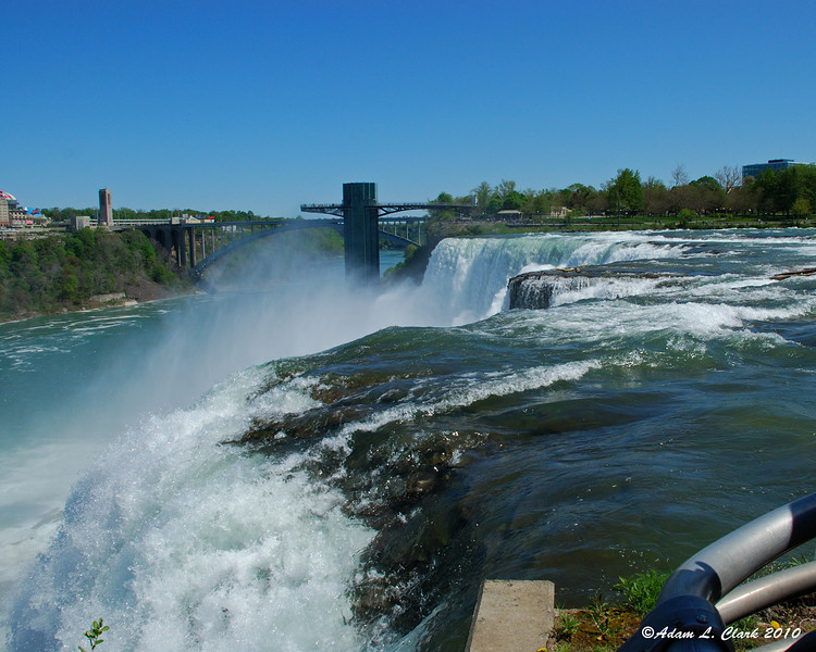 Looking across the American Falls