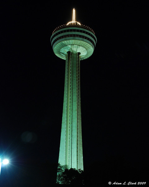 Skylon Tower at night