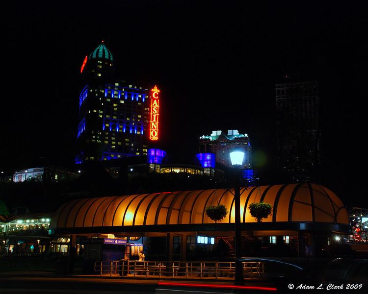 Niagara Fallsview Casino Resort behind the bus station