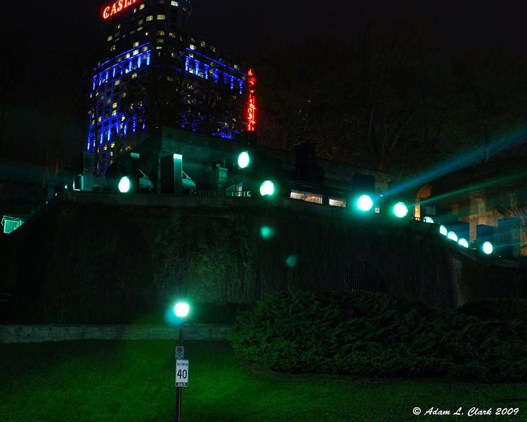 Illuminating the falls