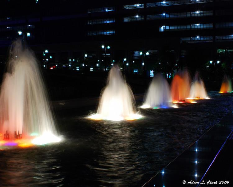 Fountains in front of Niagara Fallsview Casino Resort