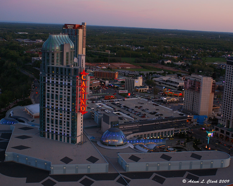Niagara Fallsview Casino Resort from the outdoor observation deck