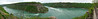 Panoramic of the whirpool area from the scenic overlook