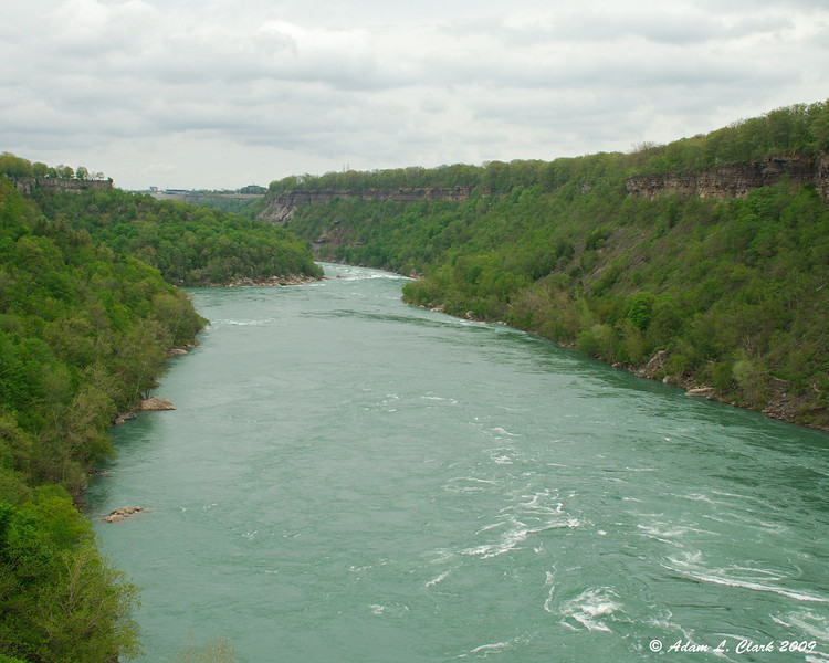 Looking downstream from the whirlpool